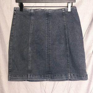 Free People: Modern Femme Denim Skirt